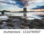 dramatic sunset over castle... | Shutterstock . vector #1116740507