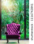 purple luxury arm chair with...