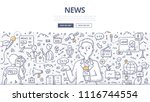 doodle vector illustration of a ... | Shutterstock .eps vector #1116744554