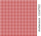Red Picnic Fabric With Straigh...