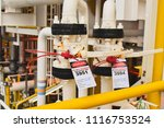 oil and gas isolation tag.lock... | Shutterstock . vector #1116753524