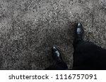 black shoes business man... | Shutterstock . vector #1116757091