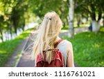 beauty girl outdoors enjoying... | Shutterstock . vector #1116761021