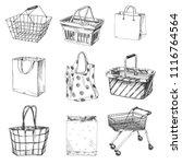 beautiful vector hand drawn... | Shutterstock .eps vector #1116764564