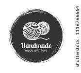 Stock vector handmade line vintage logo handmade retro badge or handmade outline label vector illustration 1116766664