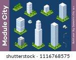urban isometric skyscraper | Shutterstock . vector #1116768575