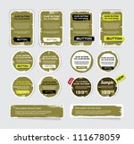 a set of khaki vector grungy... | Shutterstock .eps vector #111678059