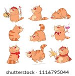 set of cartoon illustration. a... | Shutterstock . vector #1116795044