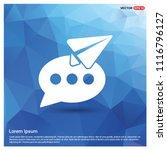 send message icon   vector icon | Shutterstock .eps vector #1116796127
