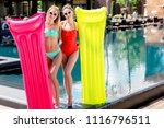 beautiful young women with... | Shutterstock . vector #1116796511