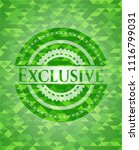 exclusive green emblem with... | Shutterstock .eps vector #1116799031
