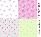 set of seamless patterns with... | Shutterstock .eps vector #1116801407