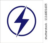 thunderbolt on a signboard.... | Shutterstock .eps vector #1116801605