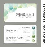 rounded corner business card... | Shutterstock . vector #1116802031
