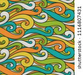 abstract colorful curly lines... | Shutterstock .eps vector #1116807431