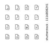 simple universal file icon set  ... | Shutterstock .eps vector #1116808241