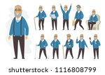 senior man   vector cartoon... | Shutterstock .eps vector #1116808799