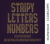 stripy golden letters  numbers  ... | Shutterstock .eps vector #1116812495