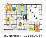 creative postcard set on a rack | Shutterstock . vector #1116814157