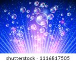 sparkling background with... | Shutterstock . vector #1116817505
