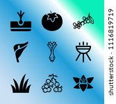 vector icon set about gardening ... | Shutterstock .eps vector #1116819719