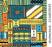 boho seamless texture   african ... | Shutterstock .eps vector #1116825035