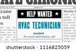 job offer   hvac technician....   Shutterstock .eps vector #1116825059