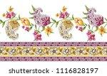 paisley horizontal border | Shutterstock .eps vector #1116828197