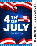 4th of july poster template.usa ... | Shutterstock .eps vector #1116830264