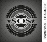sos black emblem. vintage. | Shutterstock .eps vector #1116833819