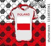 vector sport template. soccer... | Shutterstock .eps vector #1116835361