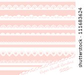 set of hand drawn lace paper... | Shutterstock .eps vector #111683624