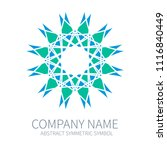 abstract symmetry circle logo....   Shutterstock .eps vector #1116840449