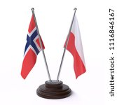 norway and poland  two table... | Shutterstock . vector #1116846167