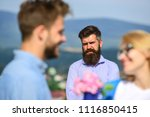 lovers meeting outdoor flirt... | Shutterstock . vector #1116850415