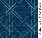 blue geometric pattern vector.... | Shutterstock .eps vector #1116851645