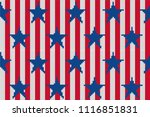 4th of july stars and stripes... | Shutterstock .eps vector #1116851831