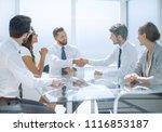 handshake of business partners... | Shutterstock . vector #1116853187