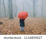 Woman With Red Umbrella ...
