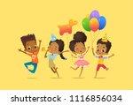 joyous african american boys... | Shutterstock . vector #1116856034