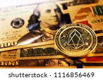 golden eos.io and us dollar... | Shutterstock . vector #1116856469