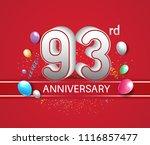 93rd anniversary design red... | Shutterstock .eps vector #1116857477