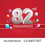82nd anniversary design red... | Shutterstock .eps vector #1116857507