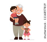 vector illustration grandfather ... | Shutterstock .eps vector #1116857819