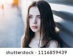 close up outdoor portrait of a... | Shutterstock . vector #1116859439