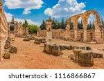 Small photo of Ruins of the Umayyad Aanjar (Anjar) in Beeka valley Lebanon Middle east