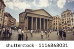 the pantheon building in the... | Shutterstock . vector #1116868031