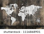 map of the world cut out or... | Shutterstock . vector #1116868901