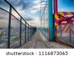 observation platform pathway at ...   Shutterstock . vector #1116873065