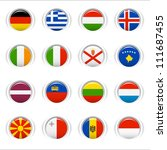 glossy buttons   european flags | Shutterstock .eps vector #111687455